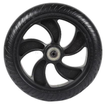 Заднее колесо в сборе (диск и литая шина) для электросамоката Kugoo S1/S2/S3/S3 Pro