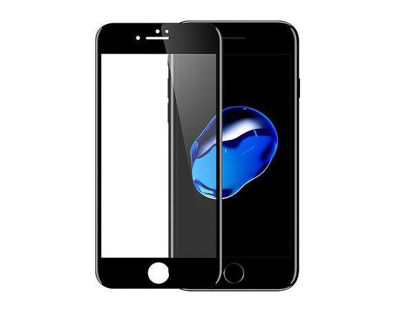 Защитное стекло для Apple iPhone 6, 5D (полная проклейка), цвет: черный