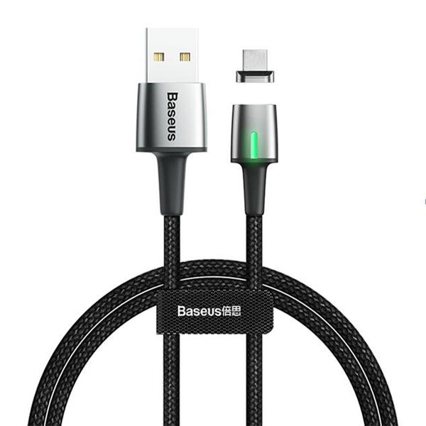 Кабель Baseus Zinc Magnetic USB для iPhone 2.4A 1m, цвет: черный