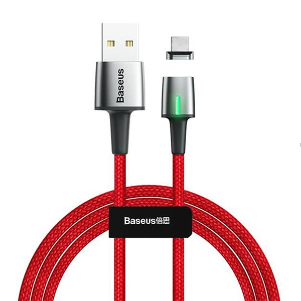 Кабель Baseus Zinc Magnetic USB для iPhone 2.4A 1m, цвет: красный
