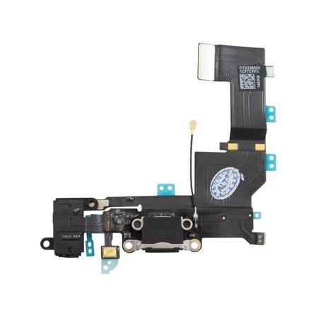 Шлейф разъема зарядки для Apple iPhone 5C (Charge Conn), цвет: черный