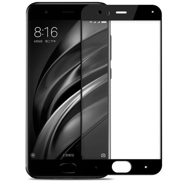 Защитное стекло для Xiaomi Mi6 5D (полная проклейка), цвет: черный