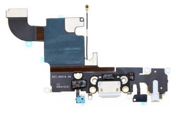 Шлейф разъема зарядки для Apple iPhone 6S (Charge Conn), цвет: белый