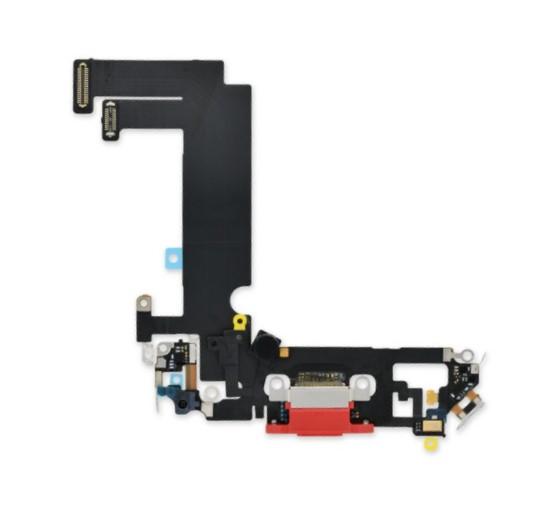 Шлейф разъема зарядки для Apple iPhone 12 mini (Charge Conn), цвет: красный