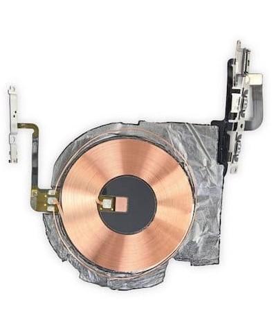 Внутрикорпусная катушка для беспроводной зарядки со шлейфом кнопок включения/выключения и регулировки громкости для iPhone 12 Pro