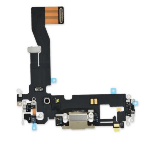 Шлейф разъема зарядки для Apple iPhone 12/12 Pro (Charge Conn), цвет: золото