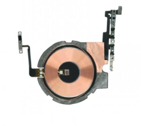 Внутрикорпусная катушка для беспроводной зарядки со шлейфом кнопок включения/выключения и регулировки громкости для iPhone 12 Pro MAX