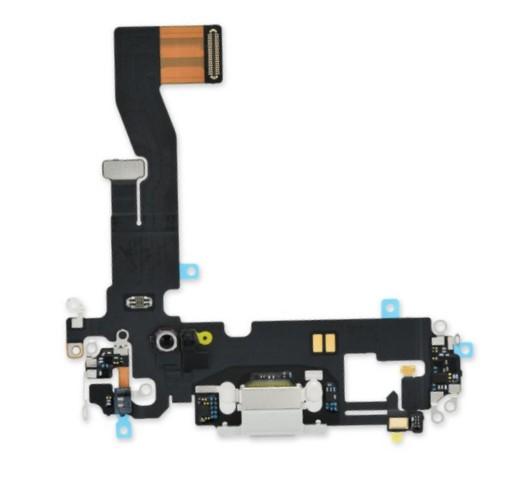 Шлейф разъема зарядки для Apple iPhone 12/12 Pro (Charge Conn), цвет: белый