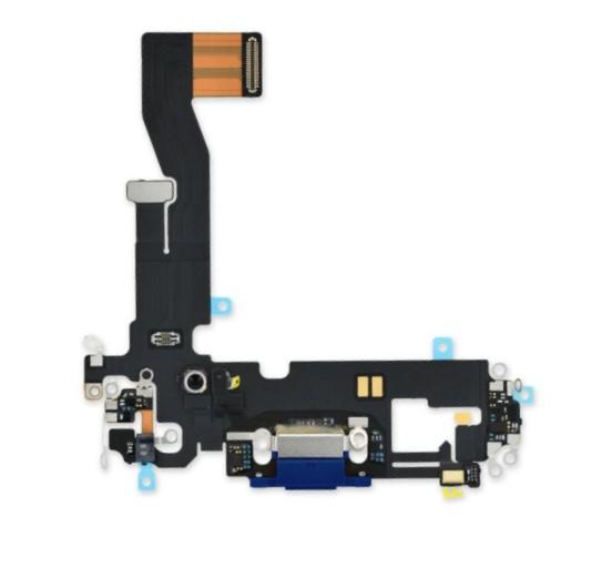 Шлейф разъема зарядки для Apple iPhone 12/12 Pro (Charge Conn), цвет: синий