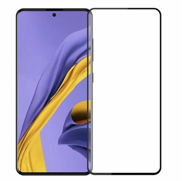 Защитное стекло для Samsung Galaxy A12 5D (полная проклейка), цвет: черный