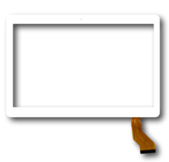 "Тачскрин для планшета Универсальный 10.1"" (CH-1096A1-FPC276-V02, MJK-0607-V1, FPC-220-V0, FX101S316-V0 SLR, GT10JTY131 (отверстие камеры левее центра)), цвет: белый"