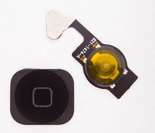 Шлейф кнопки Home (с кнопкой) для Apple iPhone 5, цвет: черный