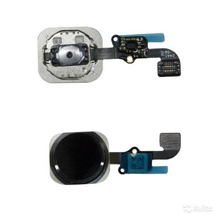 Шлейф кнопки Home для Apple iPhone 6S, цвет: черный