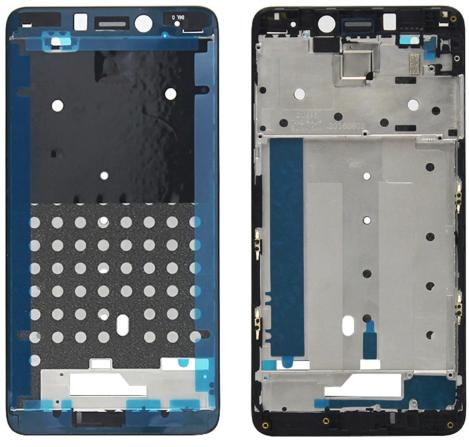 Средняя часть (рамка) для Xiaomi Redmi Note 4, цвет: черный