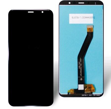 Экран для Meizu M6T с тачскрином, цвет: черный