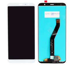 Экран для Meizu M6T с тачскрином, цвет: белый
