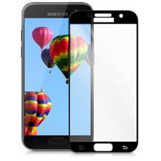Защитное стекло для Samsung Samsung Galaxy A3 2017 (A320) 5D (полная проклейка), цвет: черный