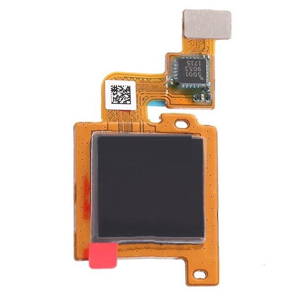 Шлейф для Xiaomi Mi A1, Mi 5X (Mi5X, MiA1) в сборе со сканером отпечатком пальцев, цвет: черный