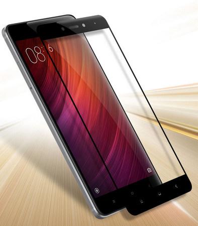 Защитное стекло для Xiaomi Redmi 5 Plus, 5D (полная проклейка) цвет: черный