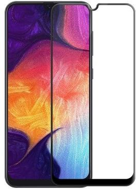 Защитное стекло для Samsung Galaxy A20 5D (полная проклейка) цвет: черный