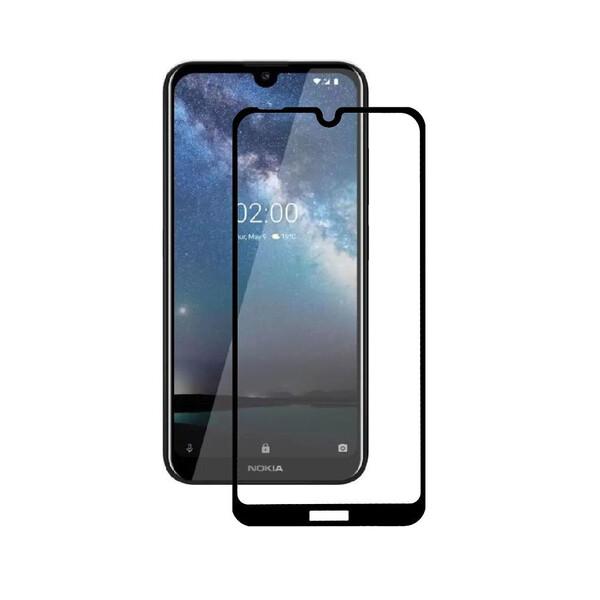 Защитное стекло для Nokia 2.2 5D (полная проклейка), цвет: черный