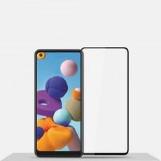 Защитное стекло для Samsung Galaxy A21S 5D (полная проклейка), цвет: черный
