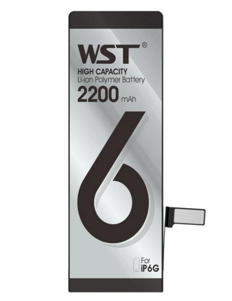 Аккумулятор WST для Apple iPhone 6 (616-0804, 616-0805, 616-0806, 616-0807, 616-0808, 616-0809) усиленный 2200mAh