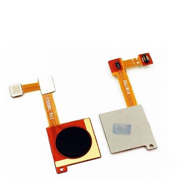 Шлейф для Xiaomi Mi A2, Mi 6X (Mi6X, MiA2) в сборе со сканером отпечатком пальцев, цвет: черный