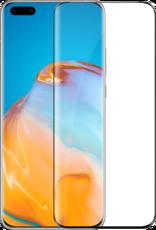 Защитное стекло для Huawei P40 Pro 5D (полная проклейка), цвет: черный