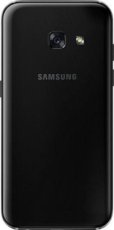 Задняя крышка (корпус) для Samsung Galaxy A3 2017 (SM-A320F), цвет: черный