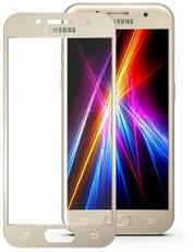 Защитное стекло для Samsung Samsung Galaxy A3 2017 (A320) 5D (полная проклейка), цвет: золотистый