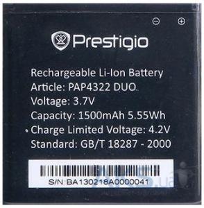 Аккумулятор для Prestigio 4322 Duo (PAP4322) оригинал