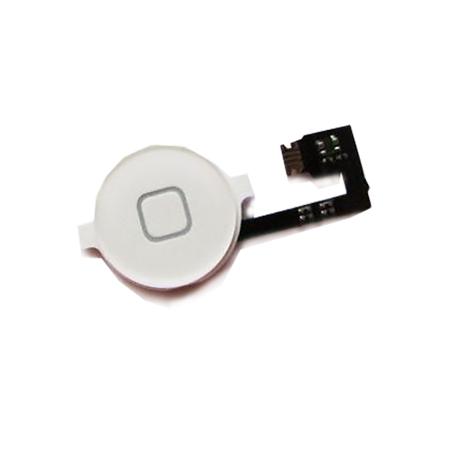 Шлейф кнопки Home (с кнопкой) для Apple iPhone 4s, цвет: белый