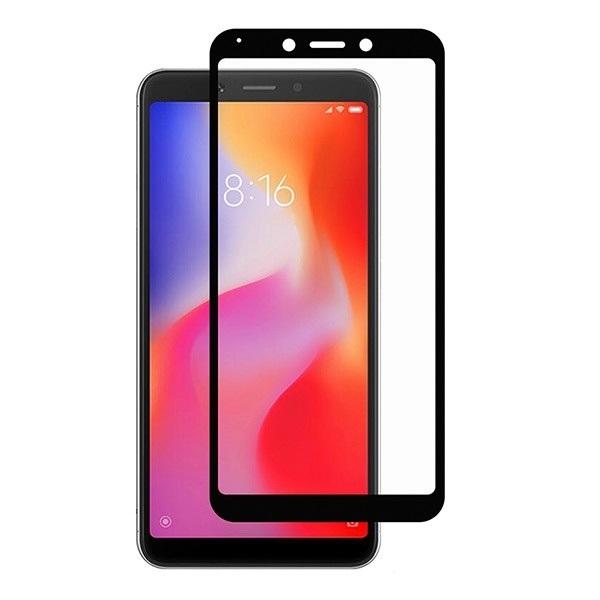 Защитное стекло для Xiaomi Redmi 6, 5D (полная проклейка), цвет: черный