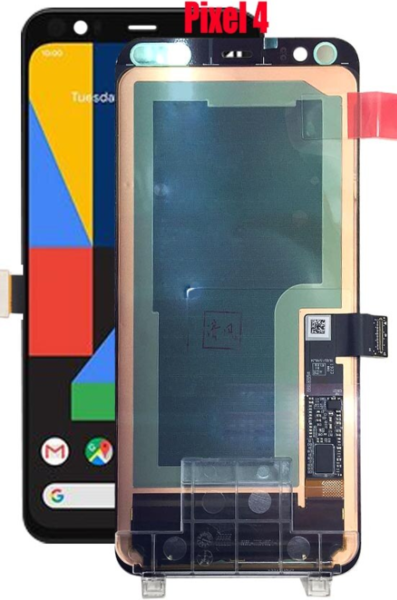 Экран для Google Pixel 4 с тачскрином, цвет: черный оригинальный