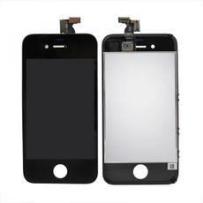 Экран для Apple iPhone 4S с тачскрином, цвет: черный (оригинальный)