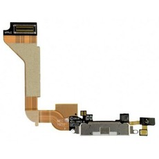 Шлейф разъема зарядки для Apple iPhone 4 (Charge Conn), цвет: черный