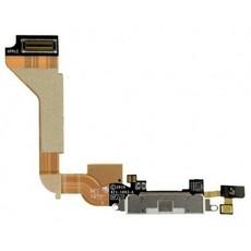 Шлейф разъема зарядки для Apple iPhone 4 (Charge Conn), цвет: белый