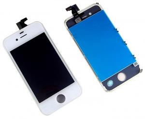 Экран для Apple iPhone 4S с тачскрином, цвет: белый (оригинальный дисплей)