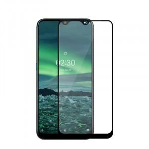 Защитное стекло для Nokia 2.3 5D (полная проклейка), цвет: черный
