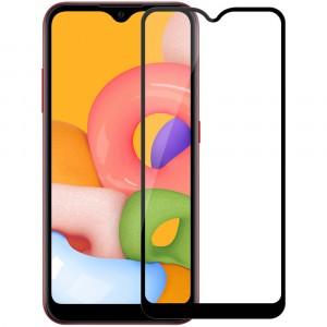 Защитное стекло для Samsung Galaxy M01 5D (полная проклейка), цвет: черный