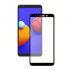 Защитное стекло для Samsung Galaxy A01 Core 5D (полная проклейка), цвет: черный