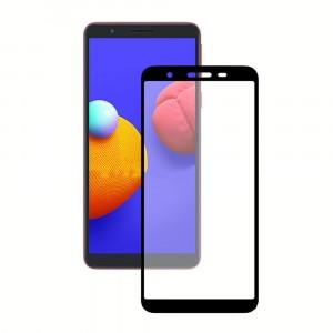 Защитное стекло для Samsung Galaxy M01 core 5D (полная проклейка), цвет: черный