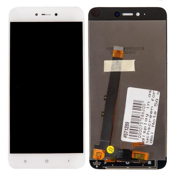 Экран для Xiaomi Redmi Note 5A с тачскрином, цвет: белый