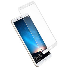 Защитное стекло для Huawei Mate 10 Lite 5D (полная проклейка) цвет: белый