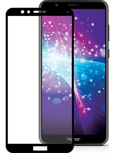 Защитное стекло для Huawei Honor 7X (BND-L21) 5D (полная проклейка) цвет: черный