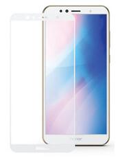 Защитное стекло для Huawei Y6 2018 5D (полная проклейка) цвет: белый