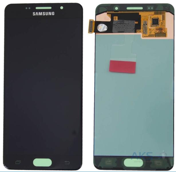Экран для Samsung Galaxy A7 (A700F) 2015 с тачскрином, цвет: черный, оригинальный