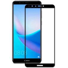 Защитное стекло для Huawei Y9 2018 5D (полная проклейка) цвет: черный