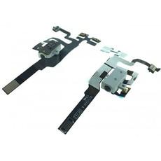 Шлейф кнопок громкости, вибрации и разъема наушников Audio Jack для Apple iPhone 4s, цвет: белый